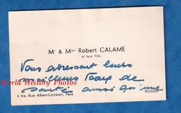 2 Cartes De Visite Anciennes - ROUEN - Monsieur & Madame Robert CALAME & Leur Fille - Généalogie - Visiting Cards