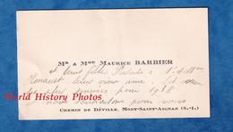 2 Cartes De Visite Anciennes - MONT SAINT AIGNAN - Monsieur & Madame Maurice BARBIER & Leur Fille - Chemin De Déville - Visiting Cards