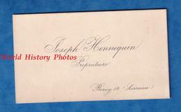 Carte De Visite Ancienne Début XXe - BORNY ( Moselle ) - Joseph HENNEQUIN Propriétaire - Metz Lorraine - Visiting Cards