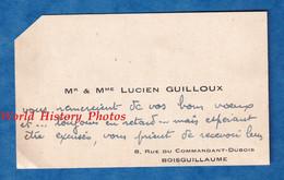 Carte De Visite Ancienne - BOIS GUILLAUME - Monsieur & Madame Lucien GUILLOUX - 1949 - Histoire Généalogie - Visiting Cards