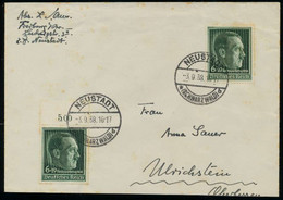 3. REICH 1938 Nr 672x BRIEF MEF X794FF2 - Covers & Documents