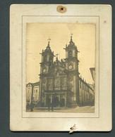 Fotografia Antiga IGREJA De SANTA CRUZ De BRAGA. Old Real Photo PORTUGAL - Old (before 1900)
