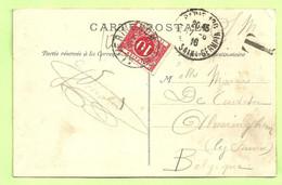 Kaart Verzonden PARIS, Getaxeerd (taxe) TX 13 Met Stempel ALVERINGHEM Op 21/6/1916 (249) - Niet-bezet Gebied