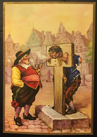 Pays Bas - Humour - Homme Attaché A Un Panneau Obligé De Fumer. Troost. Holland's Most Comfortable Tobacco. - Unclassified