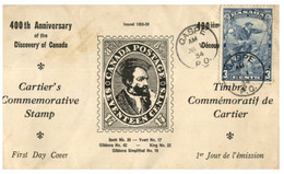 (RR 47) VERY OLD - FDC Canada 400th Anniversary Of Discovery - 1934 - ....-1951