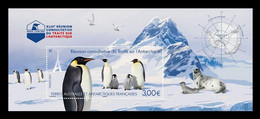 TAAF 2021 Mih. 1133 (Bl.91) Fauna. Antarctic Treaty Consultative Meeting In Paris. Penguins MNH ** - Unused Stamps