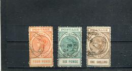 South Australia 1906-12 Yt 111-112 115 - Usados