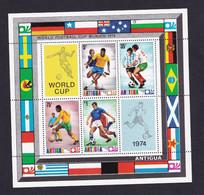 Antigua  1974  Soccer World Cup  Football, Germany  MS - Antigua E Barbuda (1981-...)