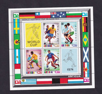 Barbuda   1974  Soccer World Cup  Football, Germany MS - Antigua E Barbuda (1981-...)