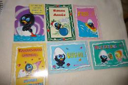 LOT DE 6 CARTES MESSAGES DE CALIMERO - 5 - 99 Postcards