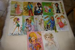 "LOT DE 12 ILLUSTRATIONS ...""SAINTE-CATHERINE""... - 5 - 99 Postcards"