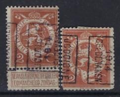 PELLENS Cijfer Nr. 109 Voorafgestempeld Nr. 2356  A  + B  JODOIGNE 1914 GELDENAKEN ; Staat Zie Scan ! - Roller Precancels 1910-19