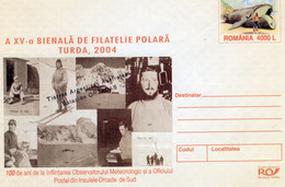 ROMANIA 2004: WHALES, WHALING, POLAR ASPECTS, Unused Prepaid Cover 077/2004 - Registered Shipping! - Entiers Postaux