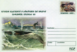 ROMANIA 2004: WHALES, WHALING, POLAR ASPECTS, Unused Prepaid Cover 079/2004 - Registered Shipping! - Entiers Postaux