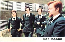 POSTAL   FOTOGRAFIA  DEL CONJUNTO MUSICAL LOS FAROS ARTISTAS EXCLUSIVOS DE DISCOS NOVOLA - Photographs