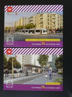 Carte Postale (x2) Tramway De Lyon 1999 - Tramways