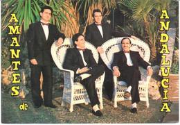 POSTAL   FOTOGRAFIA  DEL CONJUNTO MUSICAL AMANTES DE ANDALUCIA - Photographs