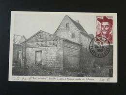 Carte Maximum Card Maison Natale De Rabelais Chinon 37 Indre Et Loire 1950 - 1950-59