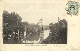 9421 CPA Précurseur - Chalonnes Sur Loire - Passerelle Sur Le Louet (Dos Non Divisé) - Chalonnes Sur Loire
