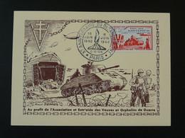 Carte Maximum Card Char Tank Débarquement D-Day Paris 1954 - 1950-59