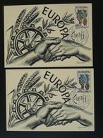 Carte Maximum Card (x2) Mains Hands Decaris Europa 1957 Paris - 1957