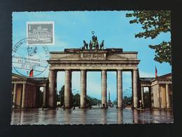 Carte Maximum Card Brandenburger Tor Berlin 1962 - Maximum Cards