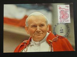 Carte Commemorative Card Visite Du Pape Jean Paul II Pope Jean Paul II Lisieux 14 Cavados Europa 1980 - Päpste