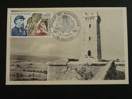 Carte Maximum Card Citadelle De Belfort 1981 - 1970-79