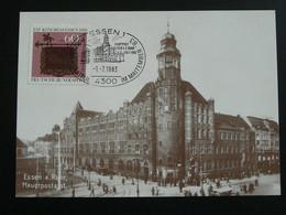 Carte Maximum Card Bureau De Poste Post Office Essen Allemagne Germany 1983 - Maximum Cards