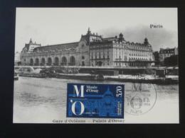 Carte Maximum Card Gare D'Orléans Devenue Palais D'Orsay Paris 1986 - Treni