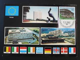 Carte Maximum Card Cour Européenne De Justice Luxembourg Europa 1987 - Cartoline Maximum