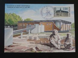 Carte Locale Musée Archéologique D'Argentomagus St-Marcel 36 Indre Europa 1990 - Archeologie