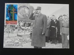 Carte Maximum Card Général De Gaulle Cimetière De Morette Thones 74 Haute Savoie 1990 - De Gaulle (Generaal)