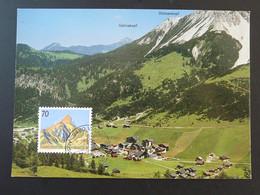 Carte Maximum Card Montagne Mountain Malbun Liechtenstein 1990 - Cartes-Maximum (CM)