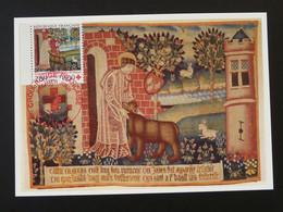 Carte Maximum Card Tapisserie D'Arras Art Medieval Croix Rouge Red Cross Oblit. Expo De Montreal 1994 - Croix-Rouge