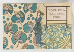LIVRET PUBLICITAIRE 8 PAGES DUVELLEROY 11 BD DE LA MADELEINE PARIS - EVENTAIL, SAC, JUMELLES.... - Advertising
