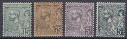 MONACO : PRINCE ALBERT 1er SERIE N° 44/47 NEUVE * GOMME AVEC CHARNIERE - COTE 296 € - Unused Stamps