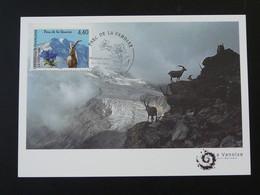 Carte Maximum Card Bouquetin Glacier Parc National De Vanoise Planay 73 Savoie 1996 - 1990-99