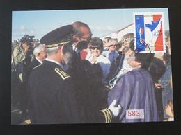 Carte Maximum Card Visite Du Président Jacques Chirac Saint-Pierre Et Miquelon 1999 - Tarjetas – Máxima