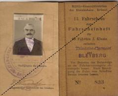 Chemins De Fer Belge Tickets Train Trajat Thimister Clermont Bleyberg Plombières Guerre WWI - Europa
