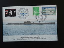 Carte Maximum Card Sous Marin Submarine Marseille 13 Bouches Du Rhone 2003 - Submarines