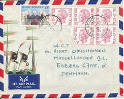 Belgium Air Mail Cover Sent To Denmark Brussel 21-5-1984 - Airmail