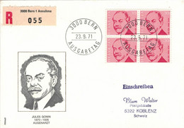Jules Gonin Augenarzt - 3000 Bern Annahme - Reco 1971 Viererblock - Medicina
