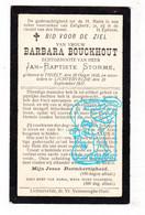 DP Barbara Bouckhout ° Tielt 1835 † Lichtervelde 1907 X Jan Baptist Storme - Devotion Images