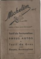 Rare Classeur Michelin Tarif Pneus Autos Et Roues Et Accessoires (sans Documents) Et Feuille 21 X 13.5 Cm Station Servic - Automobili