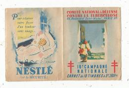 JC , Carnet De 10 Timbres , Comité National De Défense Contre La Tuberculeuse , 16 E Campagne Nationale , 1946 - Tegen Tuberculose