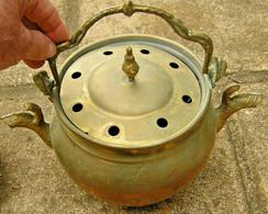 Bouilloire Ancienne A Lait Bronze Et Laiton Collection Rare Art Populaire Tbé - Casseroles