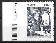 France 2011 Timbre Adhésif Neuf** N°524 Chimie Marie Curie Cote 5,00 Euros - KlebeBriefmarken