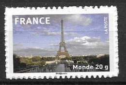 France 2009 Timbre Adhésif Neuf N°335A Tour Eiffel à La Faciale - Autoadesivi