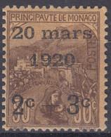 MONACO : ORPHELINS DE GUERRE SURCHARGE N° 36 NEUF * GOMME AVEC CHARNIERE - Unused Stamps